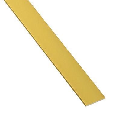 Płaskownik aluminiowy 1 m x 15 x 2 mm anodowany mosiądz połysk STANDERS