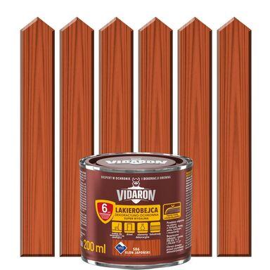 Lakierobejca do drewna OCHRONNO – DEKORACYJNA 0.2 l  Klon japoński VIDARON