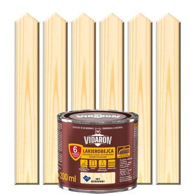 Lakierobejca do drewna OCHRONNO – DEKORACYJNA 0.2 l Bezbarwny VIDARON