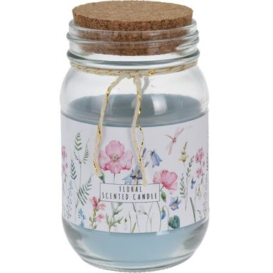 Świeca zapachowa w słoju FLORAL kwiatowa wys. 12.6 cm mix zapachów