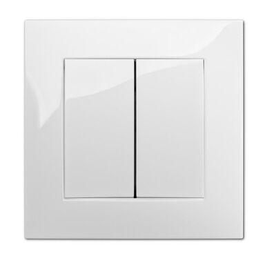 Włącznik podwójny CARLA  biały  ELEKTRO - PLAST