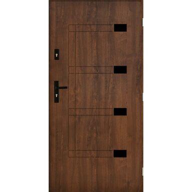 Drzwi zewnętrzne stalowe MONTPELLIER Orzech 80 Prawe PANTOR