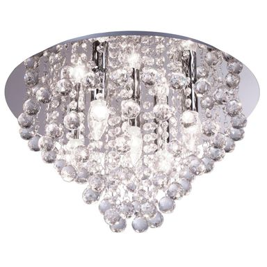 Lampa sufitowa London Cristal srebrna E14 Reality