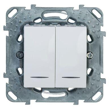 Włącznik podwójny z podświetleniem UNICA  biel polarna  SCHNEIDER