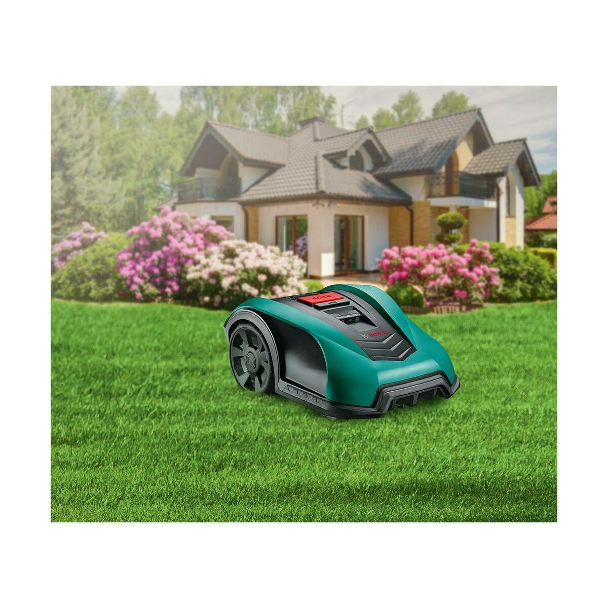 Robot Koszacy Bosch Indego 400 Logicut 2 5 Ah 18 V Roboty Koszace W Atrakcyjnej Cenie W Sklepach Leroy Merlin