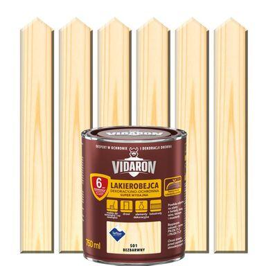 Lakierobejca do drewna OCHRONNO – DEKORACYJNA 0.75 l Bezbarwny VIDARON