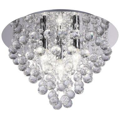 Lampa sufitowa London Crystal srebrna E14 Reality