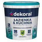 Farba wewnętrzna ŁAZIENKA&KUCHNIA 1 l Biała DEKORAL