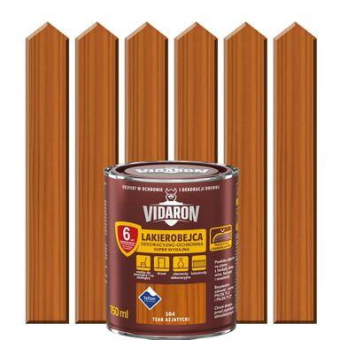Lakierobejca do drewna OCHRONNO – DEKORACYJNA 0.75 l Teak azjatycki VIDARON