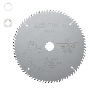 Tarcza do cięcia drewna 250 x 30 mm T80 DEXTER
