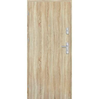 Drzwi zewnętrzne drewniane Grafen Dąb Sonoma Polska 80 Lewe otwierane do wewnątrz Nawadoor