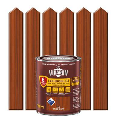Lakierobejca do drewna OCHRONNO – DEKORACYJNA 0.75 l Mahoń khaya VIDARON