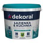 Farba wewnętrzna ŁAZIENKA&KUCHNIA 3 l Biała DEKORAL
