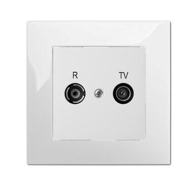 Gniazdo RTV końcowe CARLA  biały  ELEKTRO - PLAST