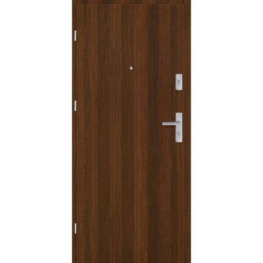 Drzwi zewnętrzne drewniane Grafen Orzech Polski 90 Lewe otwierane na zewnątrz Nawadoor