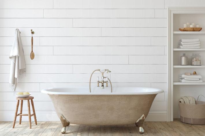 Wanna akrylowa wolnostojąca w łazience