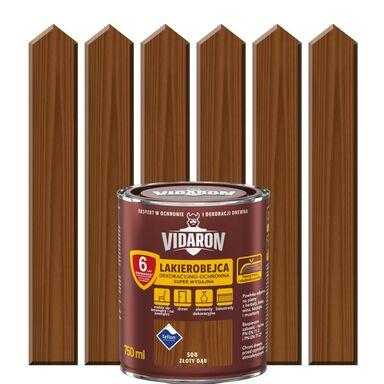 Lakierobejca do drewna OCHRONNO – DEKORACYJNA 0.75 l Złoty dąb VIDARON