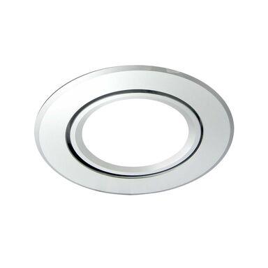 Oprawa stropowa oczko EAST OPAL srebrna okrągła GU10 POLUX