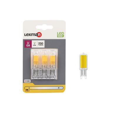 Żarówka LED G9 3 szt 2 W = 25 W 250 lm Ciepła LEXMAN