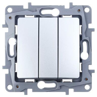 Włącznik potrójny NILOE  aluminium  LEGRAND