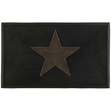 Wycieraczka STAR 75 x 45 cm wewnętrzna/zewnętrzna gumowa szara