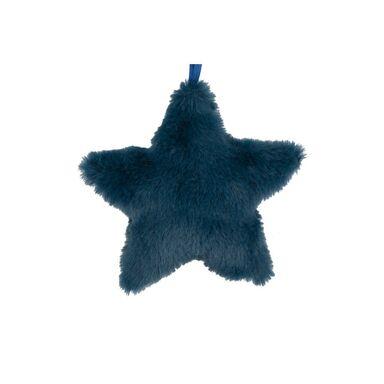 Zawieszka gwiazda pluszowa 10 cm 1 szt. niebieska