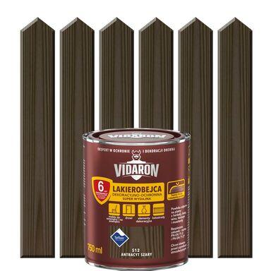 Lakierobejca do drewna OCHRONNO – DEKORACYJNA 0.75 l Antracyt szary VIDARON