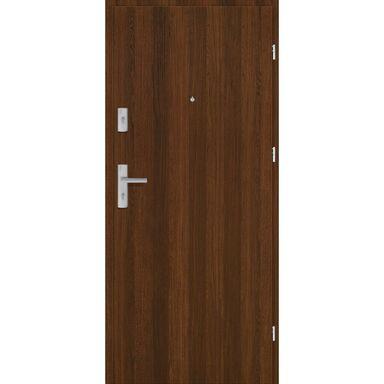 Drzwi zewnętrzne drewniane Grafen Orzech Polski 80 Prawe otwierane do wewnątrz Nawadoor