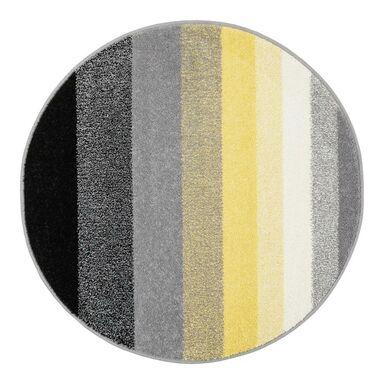 Dywan okrągły SIMP żółto-czarny śr. 100 cm