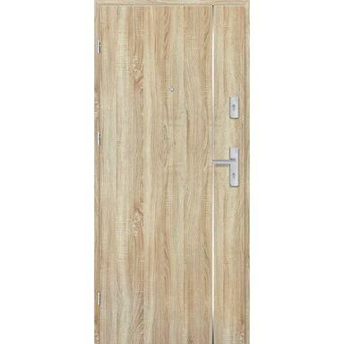 Drzwi zewnętrzne drewniane Grafen Top Dąb Sonoma Polska 90 Lewe otwierane na zewnątrz Nawadoor