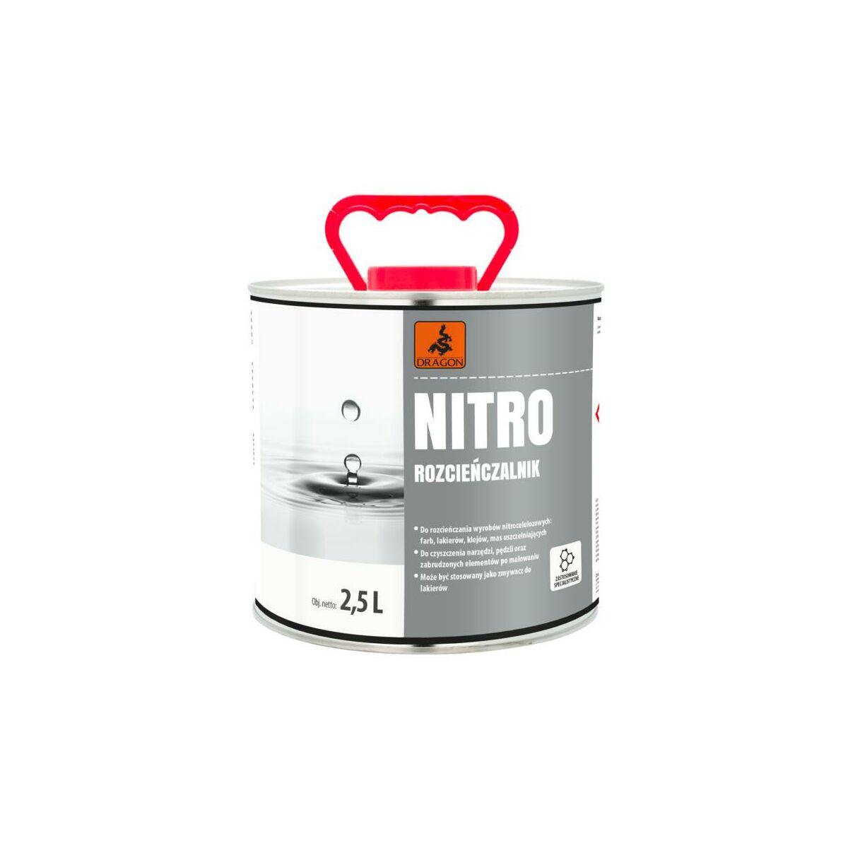Rozpuszczalnik Nitro 2 5 L Dragon Rozcienczalniki Rozpuszczalniki W Atrakcyjnej Cenie W Sklepach Leroy Merlin