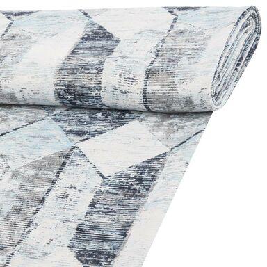 Tkanina zaciemniająca na mb SAPHIR niebieska szer. 150 cm