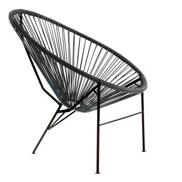 Krzesło ogrodowe ACAPULCO czarne