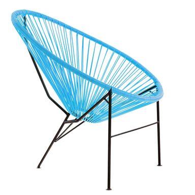 Krzesło ogrodowe ACAPULCO niebieskie