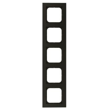 Ramka pięciokrotna SONATA  czarny metalik  OSPEL