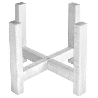 Stojak drewniany pod osłonkę 27 x 27 x 23 cm biały