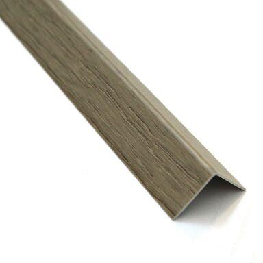 Kątownik PVC 2.6 m x 19.5 x 19.5 mm matowy dąb sonoma STANDERS