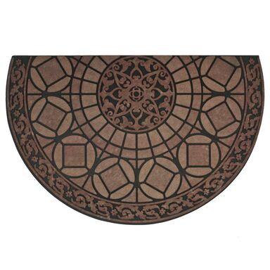 Wycieraczka zewnętrzna LUCERNA 58.5 x 85 cm gumowa brązowa INSPIRE