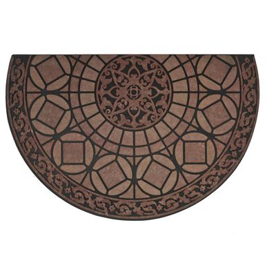 Wycieraczka zewnętrzna LUCERNA 85 x 58.5 cm gumowa brązowa INSPIRE