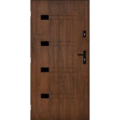 Drzwi zewnętrzne stalowe Montpellier Orzech 80 Lewe Pantor