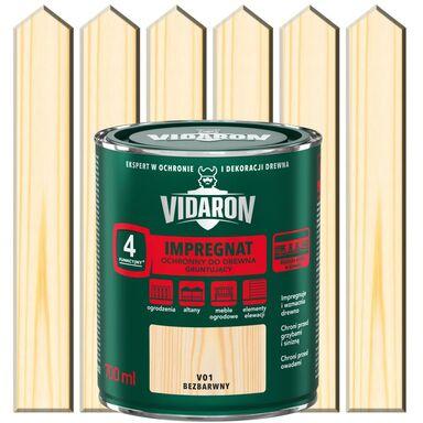 Impregnat do drewna GRUNTUJĄCY 0.7 l Bezbarwny VIDARON