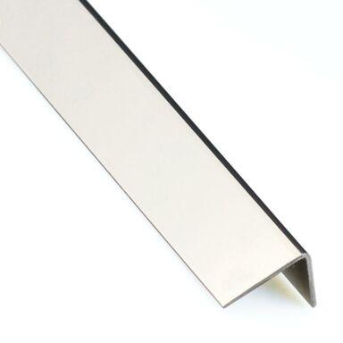 Kątownik stalowy nierdzewny 2.6 m x 15 x 15 mm polerowany
