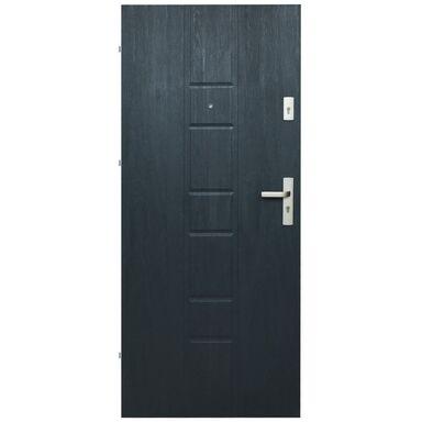 Drzwi zewnętrzne MDF Master 04 grafit 80L Domidor