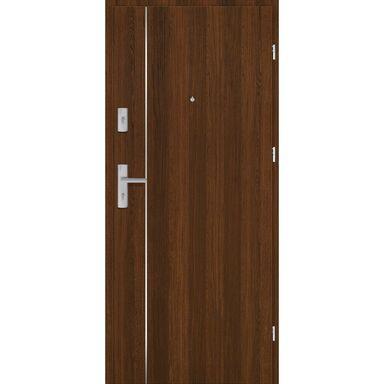 Drzwi zewnętrzne drewniane Grafen Top Orzech Polski 80 Prawe otwierane do wewnątrz Nawadoor