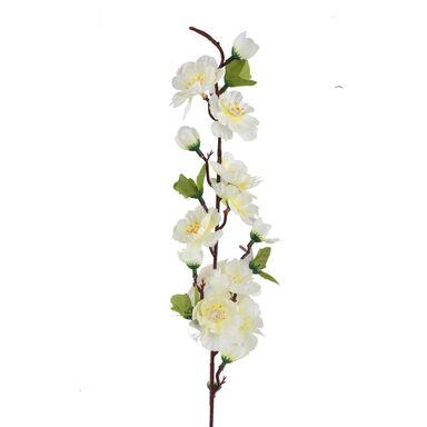 Sztuczna gałązka Kwiat Jabłoni 60 cm kremowa