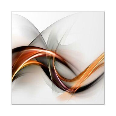 Obraz szklany GLASSPIK ABSTRAKCJA BIAŁA 30 x 30 cm