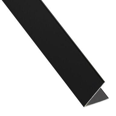 Kątownik aluminiowy 2.6 m x 30 x 30 mm połysk czarny STANDERS