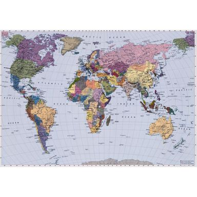Fototapeta WORLD MAP 270 x 188 cm