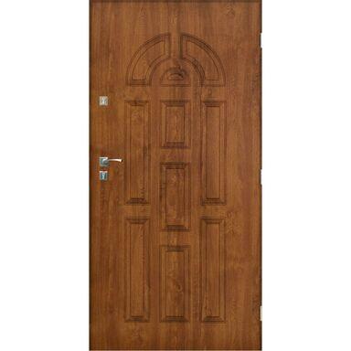 Drzwi zewnętrzne stalowe VALENCIA Złoty dąb 90 Prawe