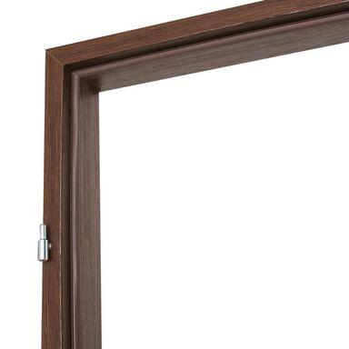 Ościeżnica stała do drzwi zewnętrznych Iryd 80 Lewa Orzech premium